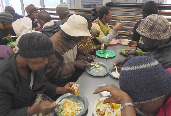 The city's poor and homeless find a nourishing meal at the Denis Hurley Centre
