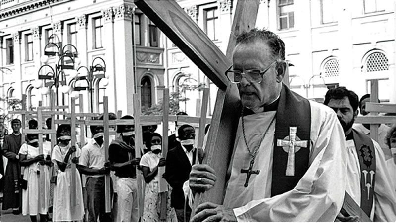 Denis Hurley leads the first Good Friday March in 1985