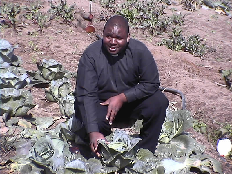 Fr Cyril's vegetable garden